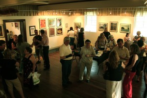 A reception in the Harold L. Olmstead Gallery