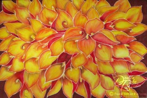 Double Take Studio Fire Calla Lillies